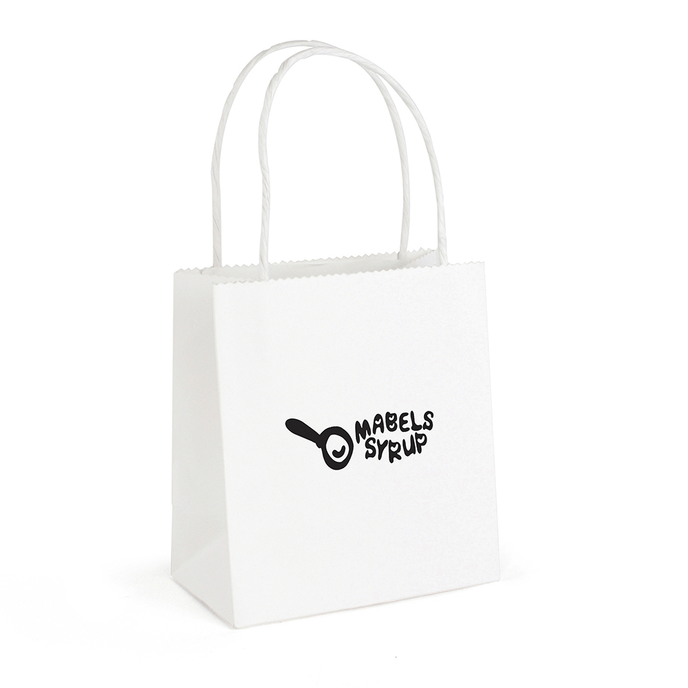 Brunswick White Small Paper Bag