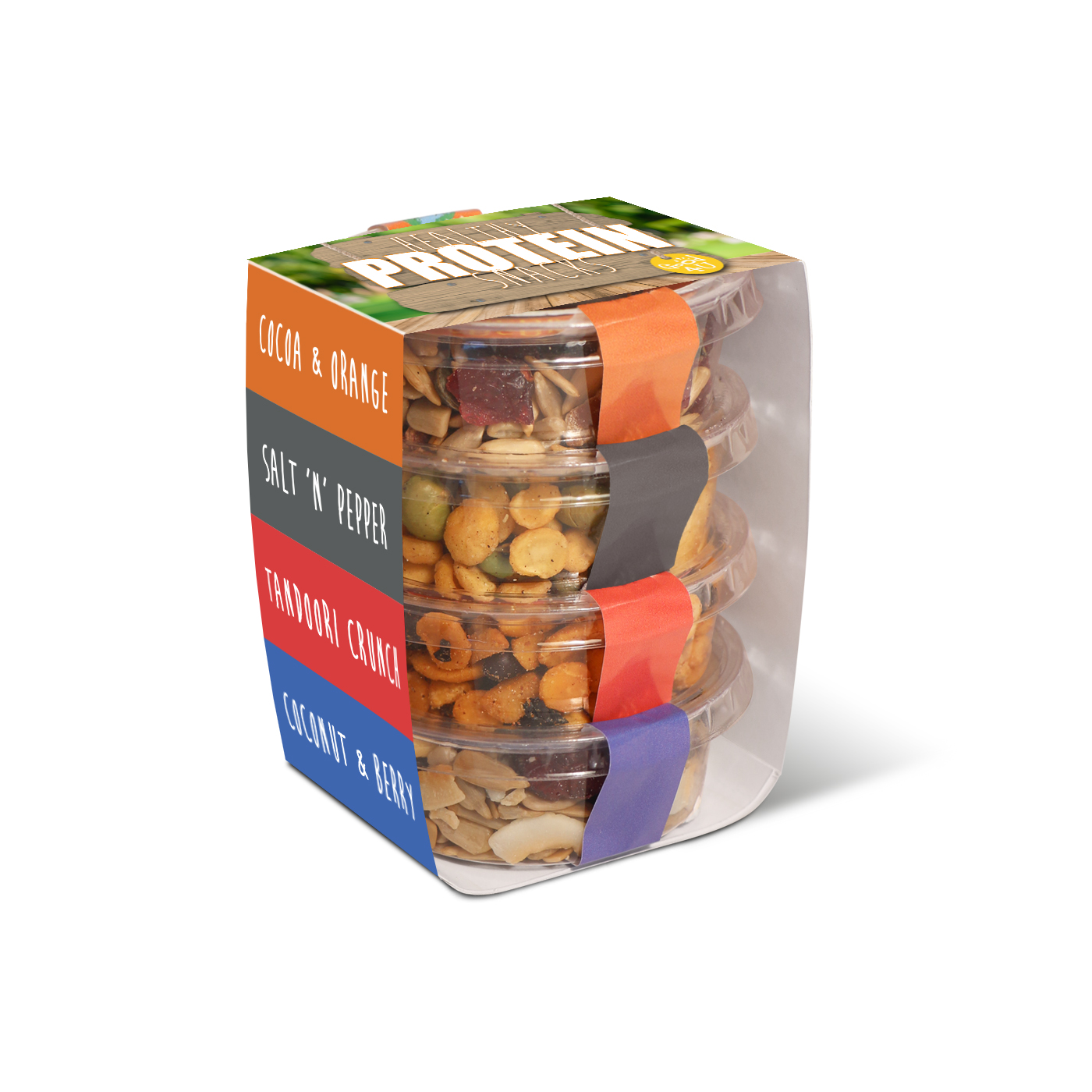 ECO POT STACKERS - HEALTHY PROTEIN SNACKS