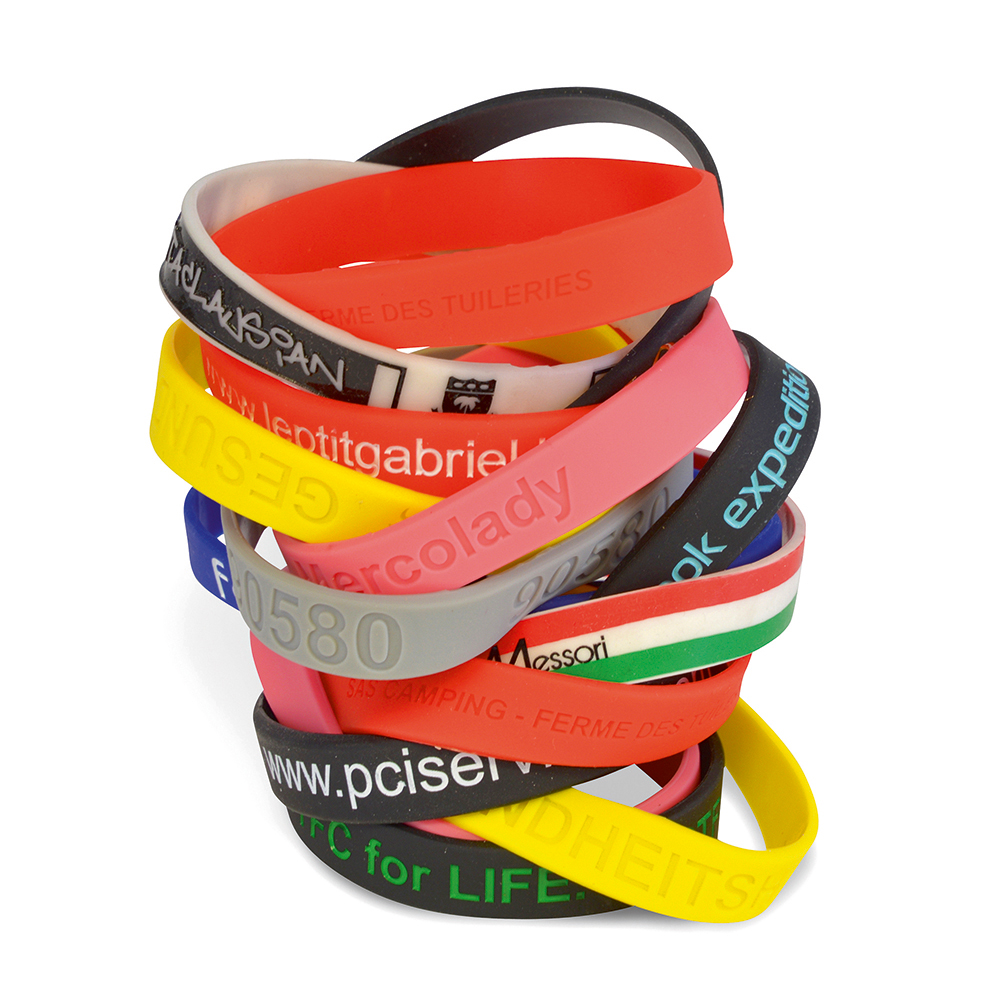 Silicon wrist band - 3 sizes - 210/202/180 x 12 x 2mm